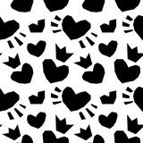 Valentine seamless hearts pattern. Vector Scandinavian Background texture.  vector illustration