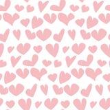 Valentine seamless pale polka dot pattern Royalty Free Stock Photo