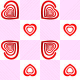 Valentine seamless pattern. Vector seamless pattern with Target with the shape of an heart Royalty Free Stock Photography