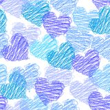 Valentine seamless pattern. Valentine romantic seamless pattern with the hearts Royalty Free Stock Photography