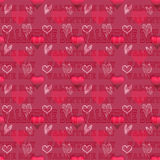 Valentine seamless pattern Stock Photography