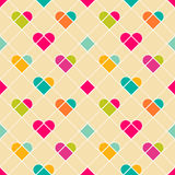 Valentine seamless pattern Stock Photos