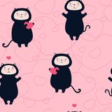 Valentine seamless pattern Royalty Free Stock Photos