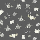 Valentine seamless pattern on a grey background Stock Photography