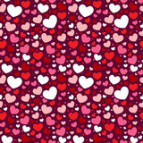 Valentine seamless pattern with hearts. Cute Valentine love seamless pattern with colorful hearts Royalty Free Stock Photography