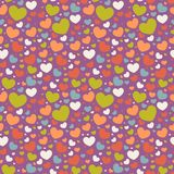 Valentine seamless pattern with hearts Stock Photo
