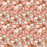 Valentine seamless pattern with hearts. Cute Valentine love seamless pattern with colorful hearts Royalty Free Stock Image