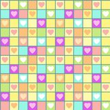 Valentine seamless pattern with hearts and cages. Vector illustration Royalty Free Stock Images
