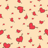 Valentine seamless pattern of hearts Royalty Free Stock Images