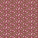 Valentine seamless pattern with hearts and roses Stock Photo
