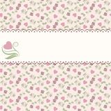 Valentine seamless pattern with hearts and roses Stock Images