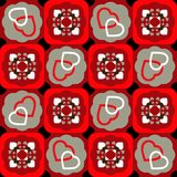 Valentine seamless pattern with hearts Royalty Free Stock Images