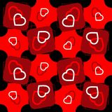Valentine seamless pattern with hearts Royalty Free Stock Image