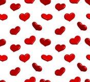 Valentine seamless pattern with shiny hearts Stock Photo