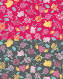 Valentine seamless pattern on a transparent background Royalty Free Stock Images