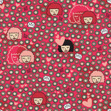Valentine seamless pattern. Royalty Free Stock Photos