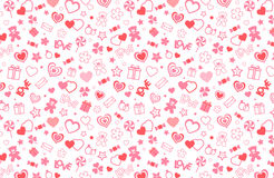 Valentine seamless pattern. Vector and illustration Royalty Free Stock Image