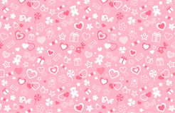 Valentine seamless pattern Stock Photos
