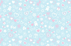 Valentine seamless pattern. Vector and illustration Stock Images