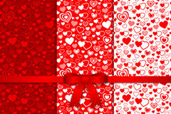 Valentine seamless pattern. Vector and illustration Royalty Free Stock Images