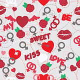 Valentine seamless pattern wallpaper Royalty Free Stock Images