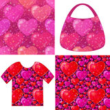 Valentine Seamless Patterns Stock Photography