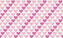 Valentine seamless polka dot pattern with hearts.   Royalty Free Stock Photos