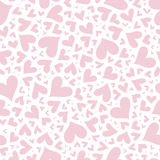 Valentine seamless stylish pink pattern with hearts. Royalty Free Stock Images