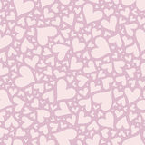 Valentine seamless stylish pink pattern with hearts. Stock Images