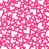 Valentine seamless stylish pink pattern with hearts. Royalty Free Stock Photos