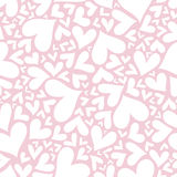 Valentine seamless stylish pink pattern with hearts. Royalty Free Stock Image