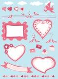 Valentine set Royalty Free Stock Image