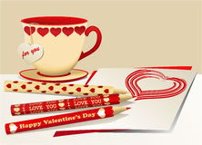 Valentine set Stock Images