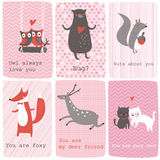 Valentine set Stock Photography