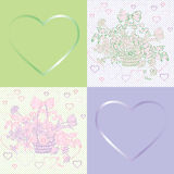 Valentine shabby chic violet pattern Stock Photo