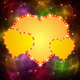 Valentine shining background with hearts Royalty Free Stock Photo