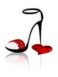 Valentine shoe Stock Photos