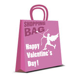 Valentine shopping bag Royalty Free Stock Photos