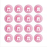 Valentine shopping bags signs Stock Image