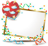 Valentine signboard with colorful paper heart Stock Images