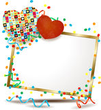 Valentine signboard with hearts Stock Photo