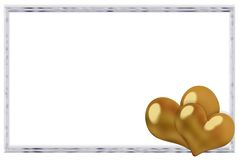 Valentine Silver And Gold Frame Royalty Free Stock Images