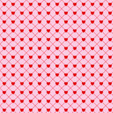 Valentine simple hearts seamless background Stock Images