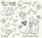 Valentine sketch Royalty Free Stock Photo