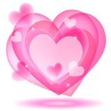 Valentine speech bubble. Valentine heart speech bubble. Abstract design element Royalty Free Stock Photography