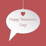 Valentine speech bubble greeting card Stock Photos