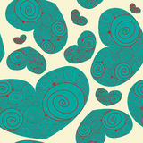 Valentine spiral hearts pattern Royalty Free Stock Images