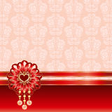 Valentine square background with a bow Royalty Free Stock Image