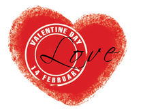 Valentine stamp. Stamp for love letter on Valentine Day Royalty Free Stock Photography