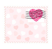 Valentine stamp Royalty Free Stock Photo
